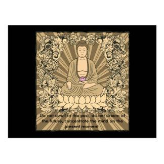 Vintager kundenspezifischer Buddha Postkarte