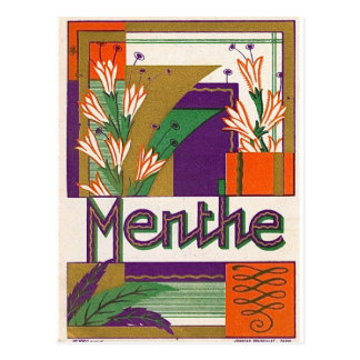 Vintager Kunst-Deko-französischer Postkarte