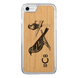 Vintager Kunst-Entwurf: Zwei Muster der Carved iPhone 7 Hülle