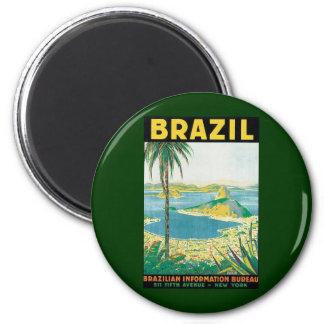 Vintager Küstenstrand Reise-Rio de Janeiro Runder Magnet 5,1 Cm