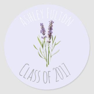 Vintager Lavendel für Abschlüsse 2017 Runder Aufkleber