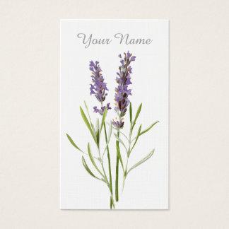 Vintager Lavendel Visitenkarte