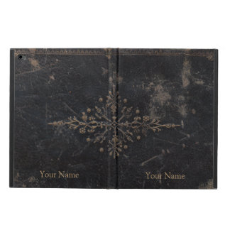 Vintager lederner Buch-Goldblatt-Entwurf