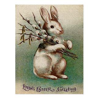 Vintager liebevoller Ostern-Gruß Postkarte
