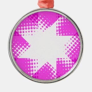 Vintager lila Halbtonstern Silbernes Ornament