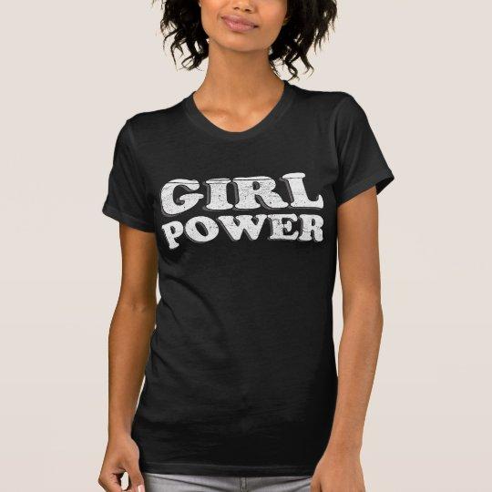 Vintager Mädchen-Power T-Shirt