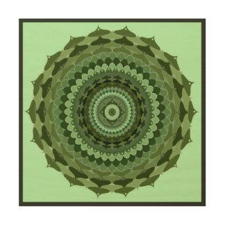 Vintager Mandala Holzleinwand