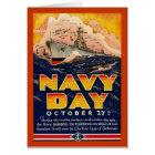Vintager Marine-Tag Karte