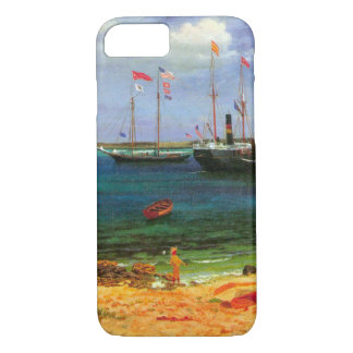 Vintager Meerblick, Nassau-Hafen durch Bierstadt iPhone 8/7 Hülle