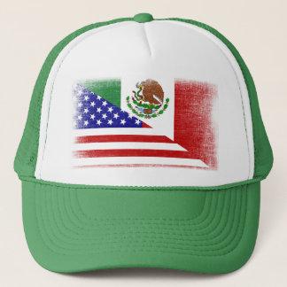 Vintager mexiko-amerikanischer truckerkappe
