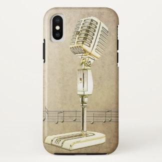 Vintager Mikrofon-Entwurf iPhone X Hülle