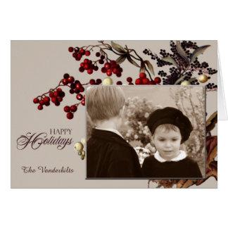 Vintager Mistelzweig-Foto-Feiertag Grußkarte