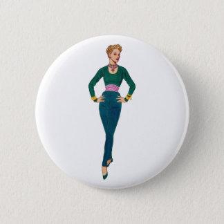Vintager Mode-Bild-Knopf Runder Button 5,1 Cm