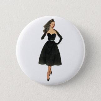 Vintager Mode-Bild-Knopf Runder Button 5,7 Cm