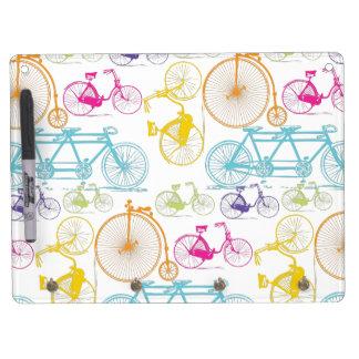 Vintager moderner Fahrrad-Muster-Dekor Trockenlöschtafel Mit Schlüsselanhängern