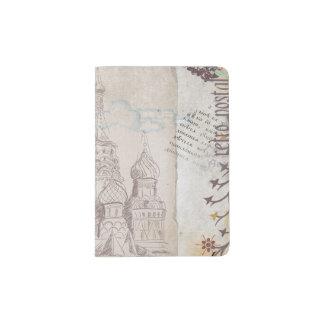 Vintager Moskau-Porto-Entwurf Passhülle
