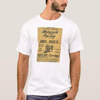 Vintager Motorrad-Rennen-Plakat-T - Shirt