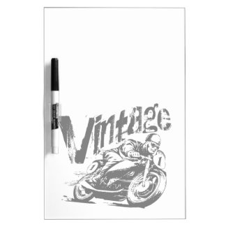 Vintager MotorradRacer Memoboard