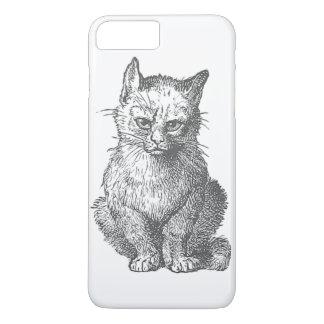 Vintager mürrischer Katzen-Entwurf iPhone 8 Plus/7 Plus Hülle