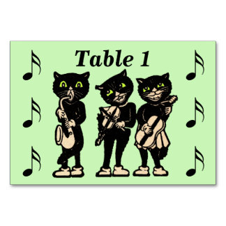 Vintager Musiker-schwarze Katzen-Musiknoten