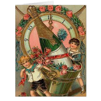Vintager neues Jahr-Gruß Karte