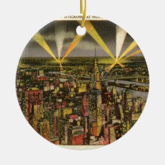Vintager New York CitySkyline Keramik Ornament