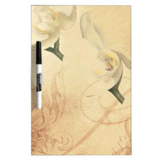 Vintager Orchideen-Hintergrund Trockenlöschtafel