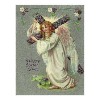 Vintager Ostern-Engel Postkarte