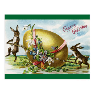 Vintager Ostern-Gruß Postkarte