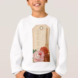 Vintager Parisblumenpaket-Umbau Sweatshirt