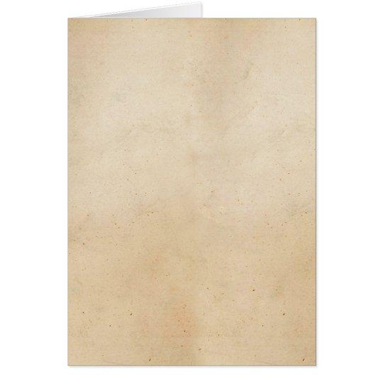 Vintager Pergamentpapier-Schablonen-freier Raum Mitteilungskarte