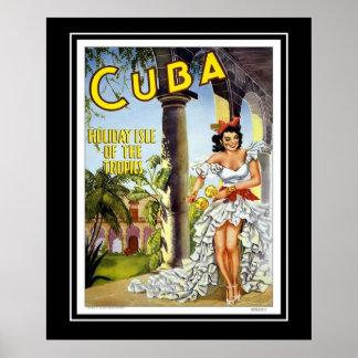 Vintager Plakat-Reise-Besuch Kuba groß Poster