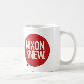 Vintager politischer Richard- Nixonknopf Nixon Tasse