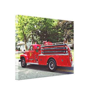 Vintager Pumper-Feuer-Motor Leinwanddruck
