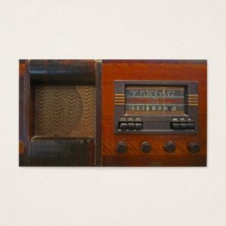 Vintager Radio Visitenkarte