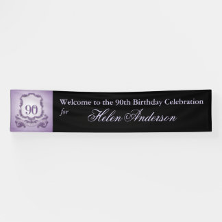 Vintager Rahmen-90. Geburtstags-personalisierte Banner