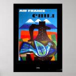 Vintager Reise-Plakat-Chile-Druck Poster