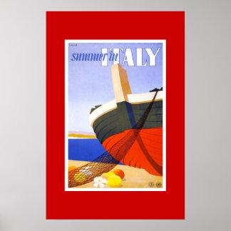 Vintager Reise-Plakat-Sommer in Italien Poster