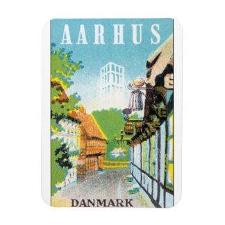 Vintager Reise-Posten Aarhus Danmark Magnet