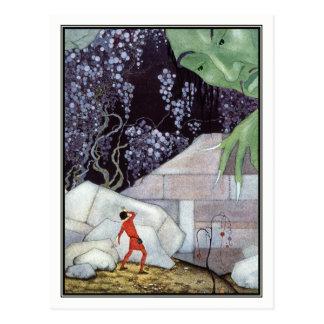 Vintager Riese durch Virginia Frances Sterrett Postkarte