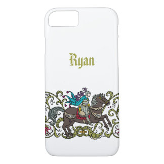 Vintager Ritter personalisiert iPhone 8/7 Hülle