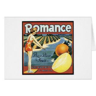Vintager Romance Frucht-Aufkleber Karte