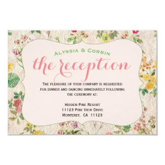 Vintager rosa eleganter Hochzeits-mit 8,9 X 12,7 Cm Einladungskarte