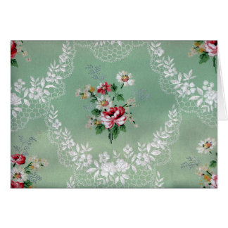 Vintager Rosen-Blumenstrauß-Tapeten-Entwurf Karte