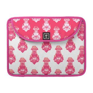 Vintager roter/rosa Farbhintergrund Sleeve Für MacBook Pro