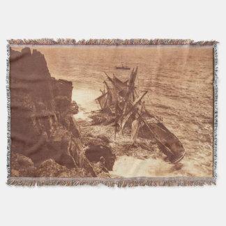 Vintager Schiffbruch - Segeln-Schiffs-Antiken-Foto Decke