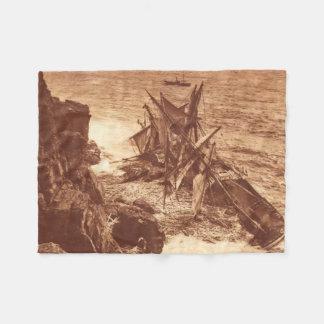 Vintager Schiffbruch - Segeln-Schiffs-Antiken-Foto Fleecedecke