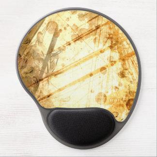 Vintager Schiffs-Ozean-bernsteinfarbiges Gel Mousepads