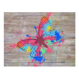 Vintager Schmetterling der coolen niedlichen Postkarte