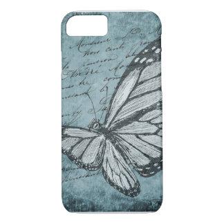 Vintager Schmetterlingstelefonkasten iPhone 8/7 Hülle